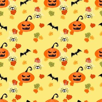 Halloween kürbisse und herbstlaub.