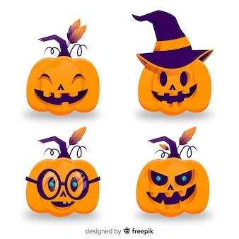 Halloween-Kürbissammlung