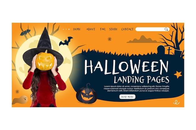 Halloween landing page konzept