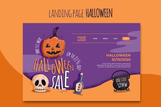 Halloween landing page vorlage