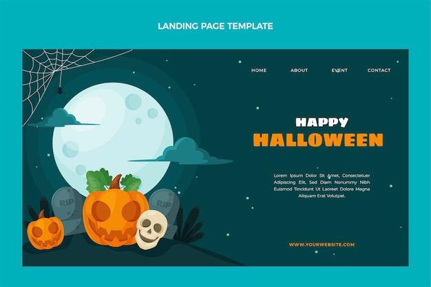 Halloween-landingpage im flachen design