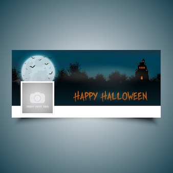 Halloween landschaft timeline cover