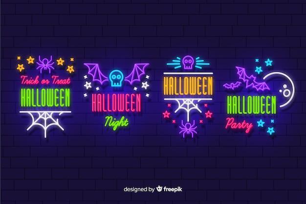 Halloween leuchtreklame sammlung