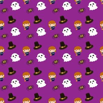 Halloween liebenswert muster kinder geist