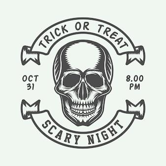 Halloween-logo, abzeichen