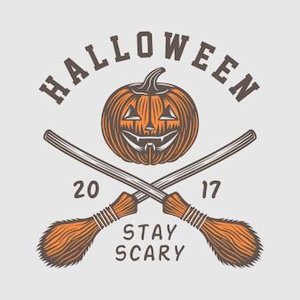Halloween-logo, emblem, abzeichen