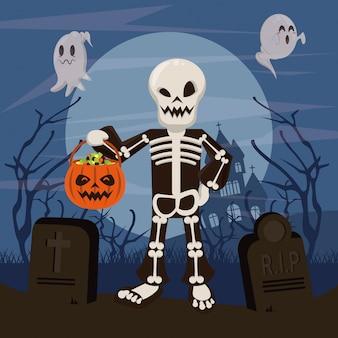 Halloween lustige und beängstigende cartoons