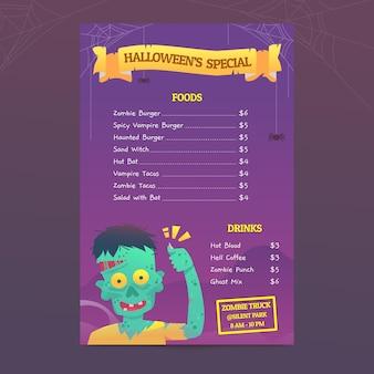 Halloween-menüvorlage