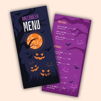 Halloween-menüvorlagenkonzept