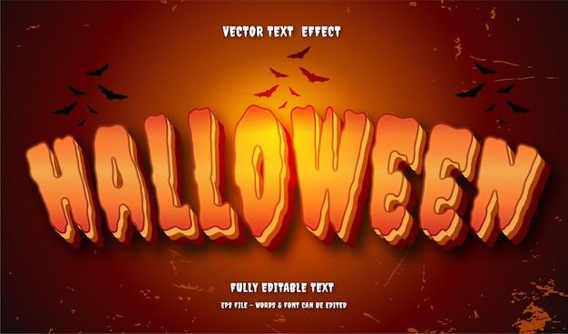 Halloween mit bearbeitbarem texteffekt im modernen stil