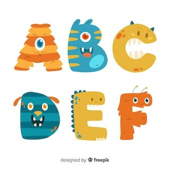 Halloween monster alphabet konzept