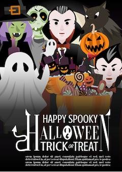 Halloween monster party einladung poster