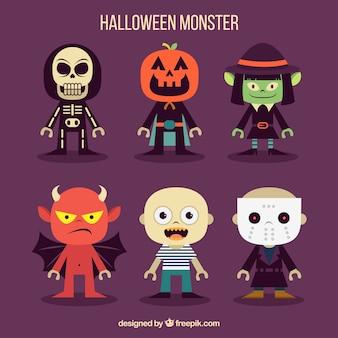 Halloween-monster sammlung