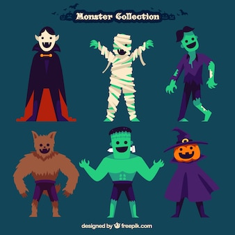 Halloween-monster sammlung
