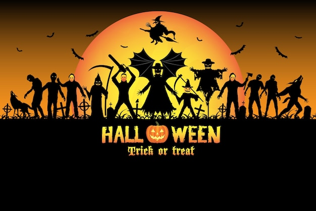 Halloween monster zombie serienmörder set