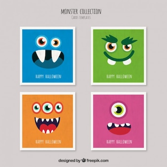 Halloween-monsterkarten