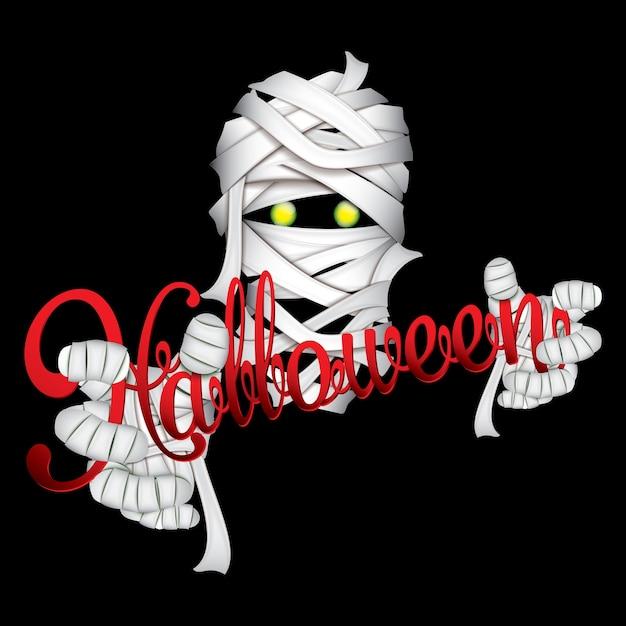 Halloween-mumienmonster, papierkunstart
