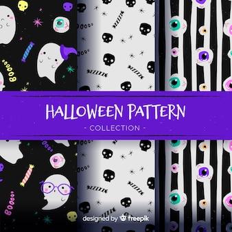 Halloween muster hintergrunddesign