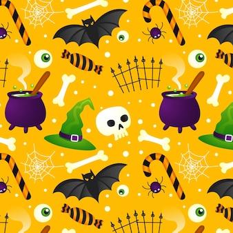 Halloween-muster mit farbverlauf