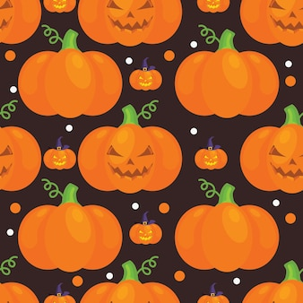 Halloween-muster mit kürbisen