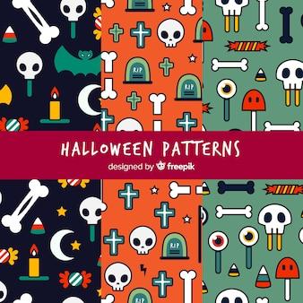 Halloween-muster mit zeichnungen
