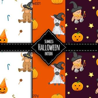 Halloween muster set illustration