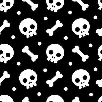 Halloween-muster und -tapete für geschenk und geschenk am halloween-tag