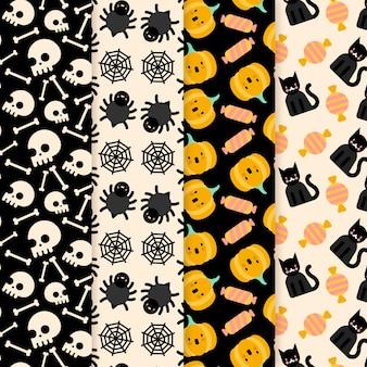 Halloween-mustersammlung