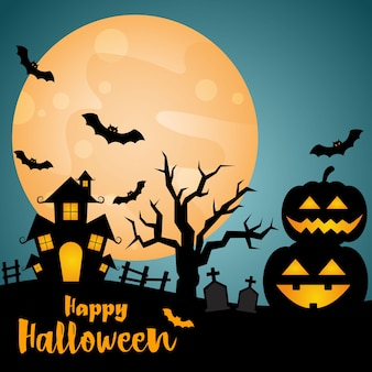 Halloween nacht party hintergrund.