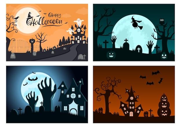Halloween-nachtparty-illustration