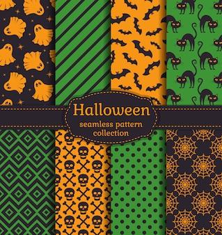 Halloween nahtlose muster. einstellen.