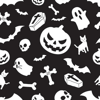 Halloween nahtlose muster kürbis