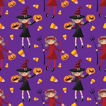 Halloween nahtlose muster.
