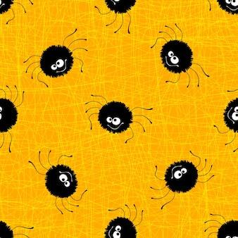 Halloween-nahtloser musterhintergrund. vektor-illustration eps 10