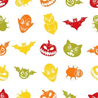 Halloween-nahtloses muster für die feier des festivals