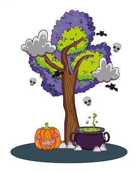 Halloween niedliche cartoons