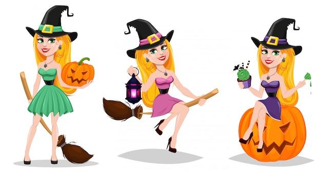 Halloween, niedliche zeichentrickfigur für urlaub.