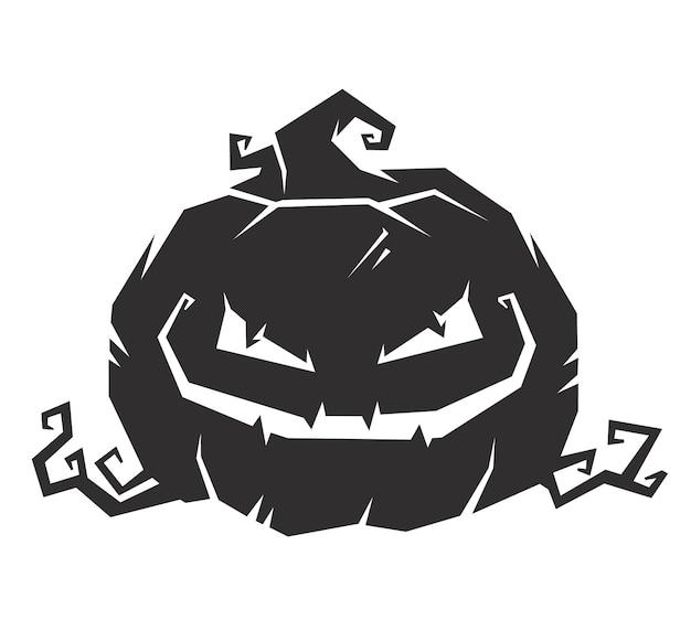 Halloween-oktober-kürbis-set mit gesichtsgefühl