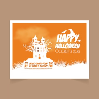 Halloween orange 31. oktober banner