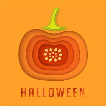 Halloween-papier schnitt kürbishintergrund.