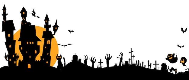 Halloween-papierkunst-partyplakat. set kürbisse der kollektion scary und lustiger karneval hintergrund konzept design