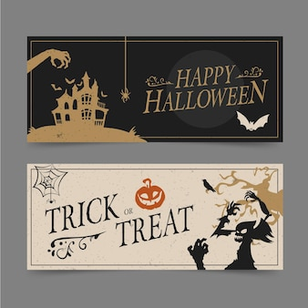 Halloween party banner set