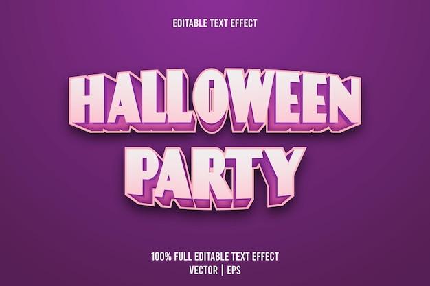 Halloween party bearbeitbarer texteffekt 3-dimensionaler präge-cartoon-stil