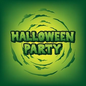 Halloween-party bluttext