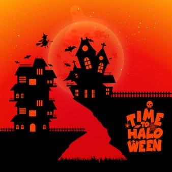 Halloween-party-design mit kreativen design vektor