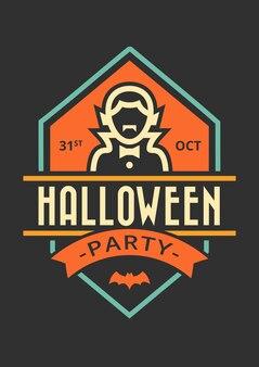 Halloween party einladung abzeichen