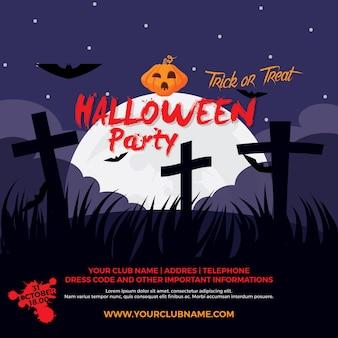 Halloween party einladung vorlage