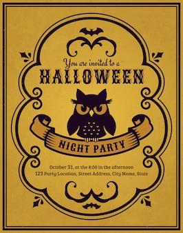 Halloween-party einladung
