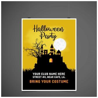 Halloween-party einladungskarte mit kreativen design vektor