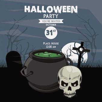 Halloween-party einladungskarte